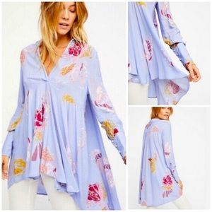 Free People | Field of Butterflies Blue Tunic